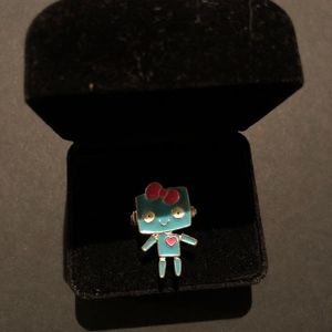 Claire's Turquoise and Pink Robot Ring